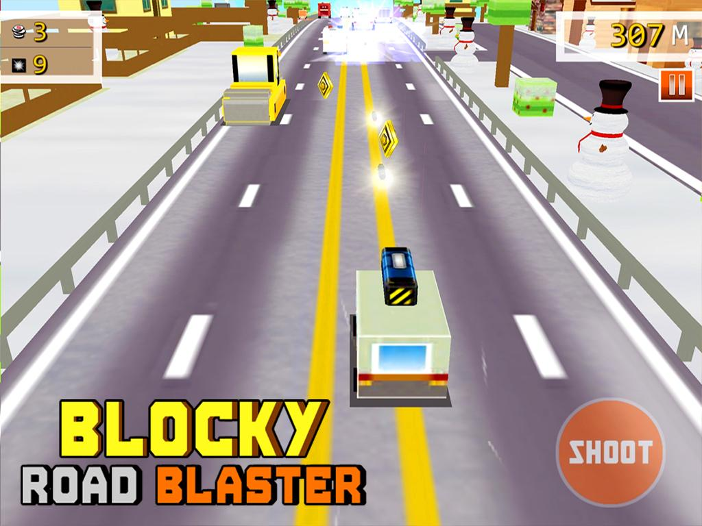 Blocky Road Blaster -Wild Race Screenshot 13
