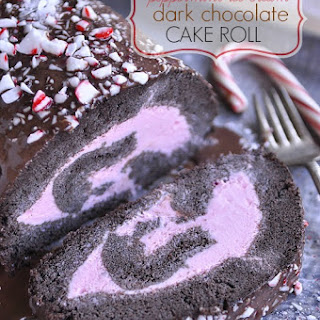 Peppermint Ice Cream Dark Chocolate Cake Roll