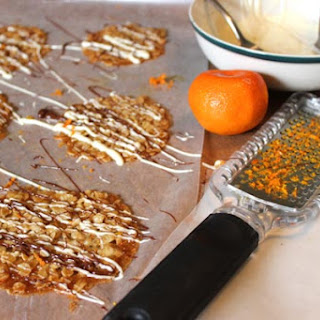 Chocolate Drizzled Orange Oatmeal Lace Cookies