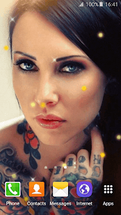 Tattoo Girl Live Wallpaper HD - screenshot