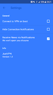 JustVPN - Free Unlimited VPN & Proxy Screenshot