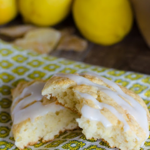 Glazed Lemon Ginger Scones