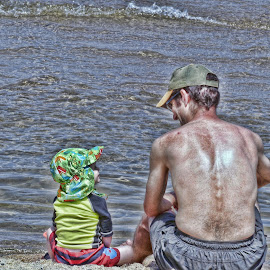 Father and Son by Marcia Geier - People Family ( love, family, beach, KidsOfSummer )
