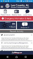Screenshot of Lee County EMA
