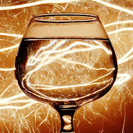 Sparkle through the glass by Peter Salmon - Artistic Objects Glass ( sparkler, trail, glass, glow, light )