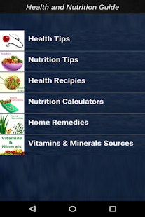 Health and Nutrition Guide screenshot for Android