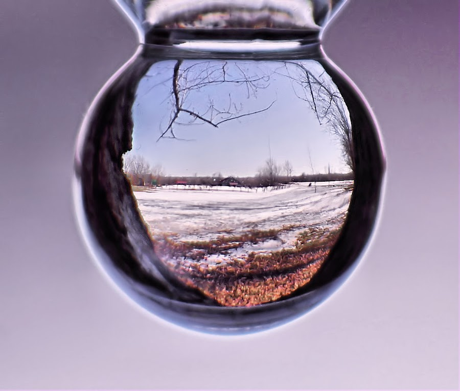 Winter drop by Arnaud Charil - Artistic Objects Other Objects ( blue, orange. color, , snow, winter, cold )