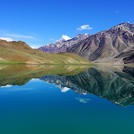 Cool for Eyes by Somnath Mullick - Landscapes Mountains & Hills ( cool, hills, reflection, summer, himalayas )