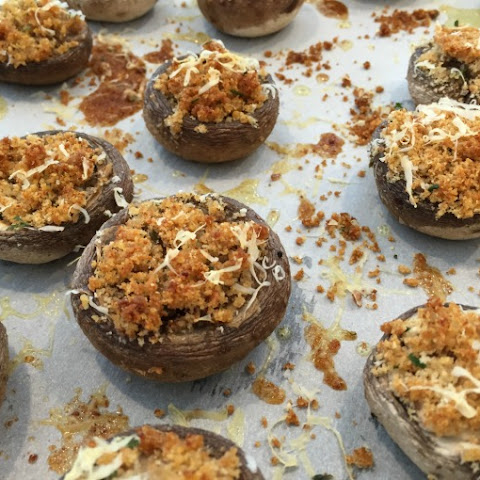 Four Ingredient Stuffed Mushrooms