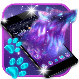 Night Sky Spirit Wolf Launcher Theme For PC