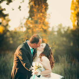 sun kiss by Albert de Weerd - Wedding Bride & Groom