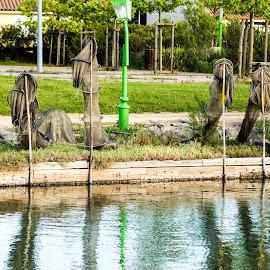 Park Riverside Recreational Fishing by Jennette Marty - City,  Street & Park  City Parks