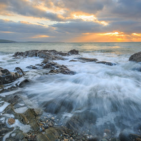 Waves and Rocks by Jirka Vráblík - Landscapes Beaches ( ireland, waves, sunrise, seascape, rocks,  )