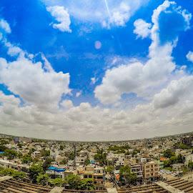 City Cloud by Tushar Thakur - Landscapes Cloud Formations ( cloudscape, cityscape )