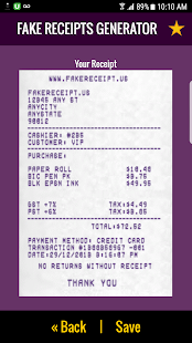 Fake Receipt Generator (FREE) APK for Kindle Fire
