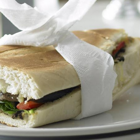 Eggplant, Spinach and Pepper Panini