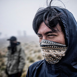 On Top Of A Foggy Mountain by Rilo Sadewa - People Portraits of Men