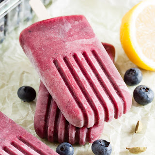 Blueberry Cardamom Popsicles