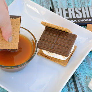 S'mores with Salted Caramel Sauce