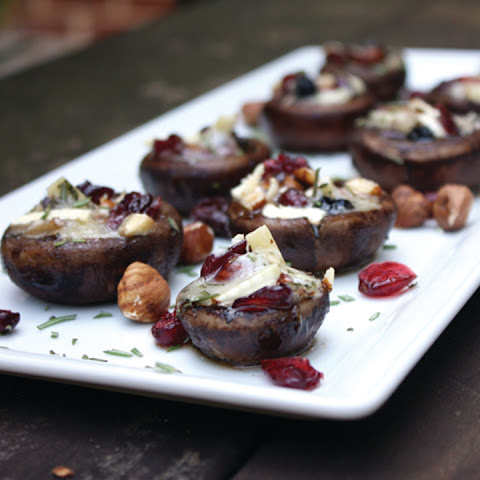 Brie and Hazelnut Stuffed Mushrooms