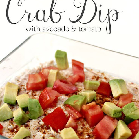 Super Easy Crab Dip with Avocado & Tomato
