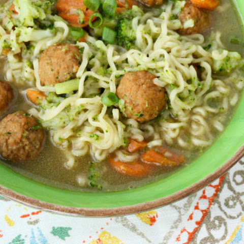 Mini Meatball Oriental Soup
