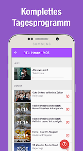 TV Programm App mit Live TV Screenshot