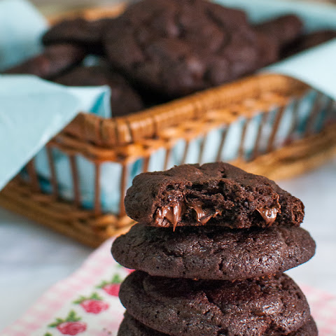 Totally Chocolate Chip Cookies (Nigella)