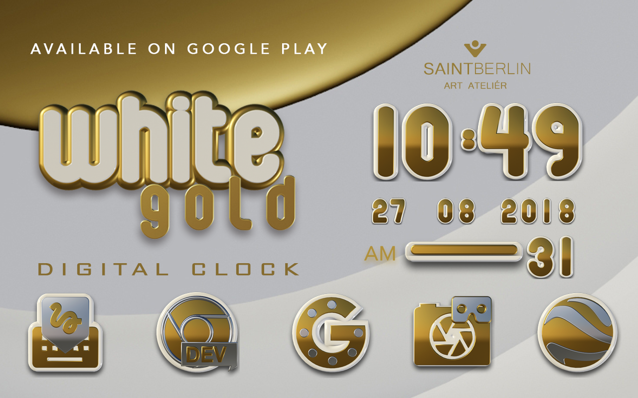Icon Pack White Gold 3D Screenshot 9