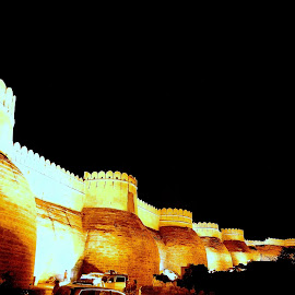 The Fort by Vikas Jorwal - Buildings & Architecture Statues & Monuments ( beautiful, monument, night, historical, fort, wall,  )