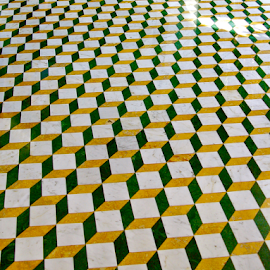 Abstract Floor by Dave Feldkamp - Abstract Patterns ( squares, patterns, pattern, 3d, square,  )