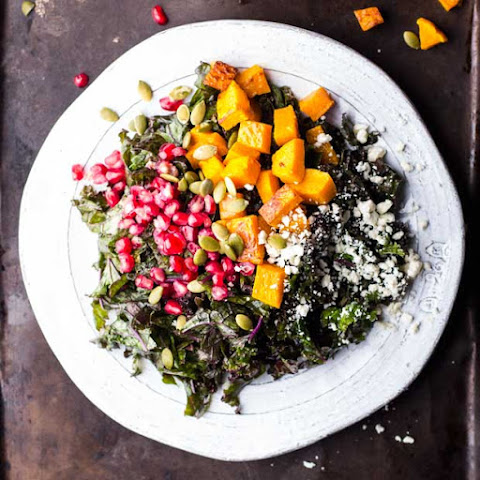 ... Salad with Squash, Pomegranate, Feta and a Maple-Dijon Vinaigrette