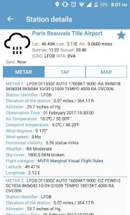 NOAA Aviation Live Sky Weather screenshot for Android