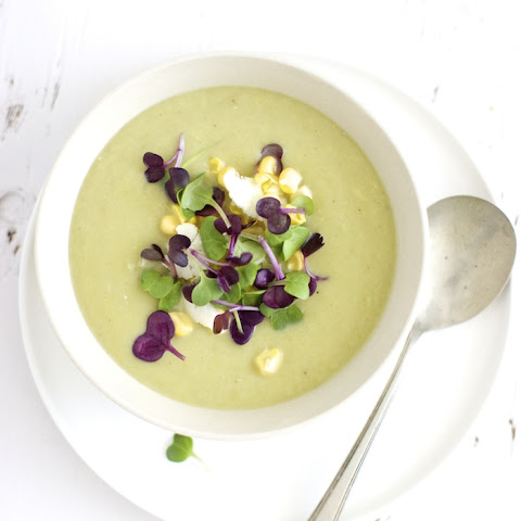 Cauliflower Soup with Garlic Scapes