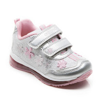 Geox Todo Metallic Trainer VELCRO GIRL LIGHTS