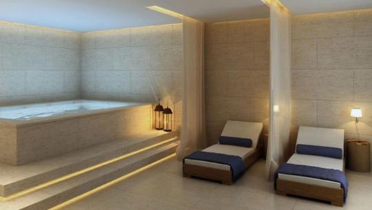 Perspectiva do Spa com Sauna,  Sala de Massagem e Descanso