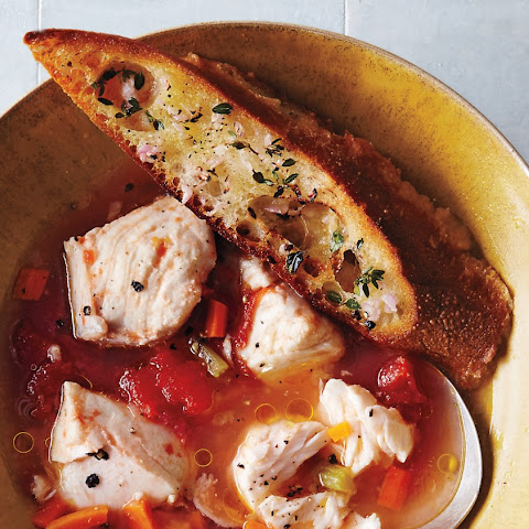 Fish Stew with Herbed Toasts