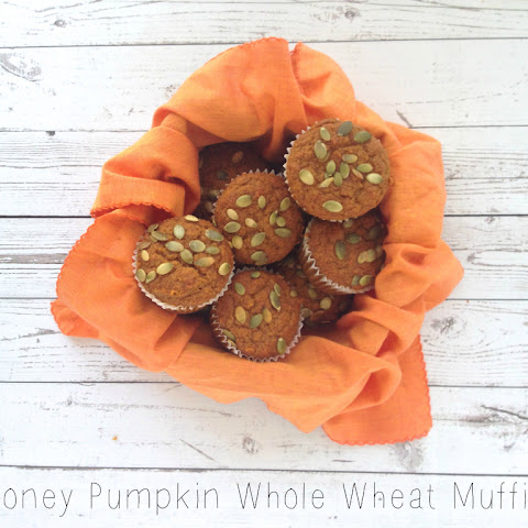 Honey Pumpkin Whole Wheat Muffins