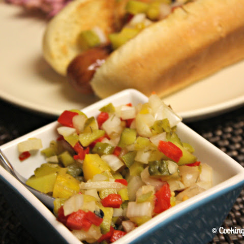 Homemade Hot Dog Relish