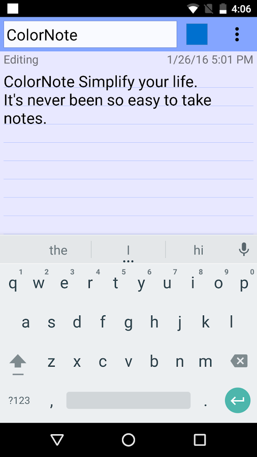 ColorNote Notepad Notes Screenshot 2