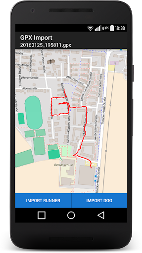 The Mantrailing App - screenshot