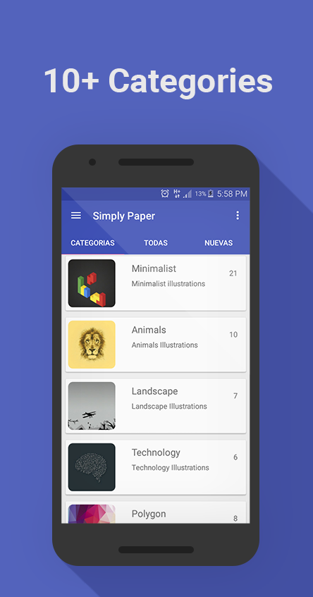 SimplyPaper - Wallpapers Screenshot 1
