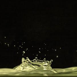 Bobbel crown by Bjørn Bjerkhaug - Abstract Water Drops & Splashes