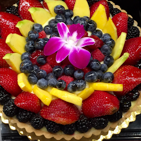 Fruit Tart with Flower by Lope Piamonte Jr - Food & Drink Candy & Dessert (  )