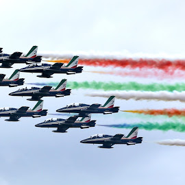Le Frecce Tricolori by Jos Meubis - Transportation Airplanes