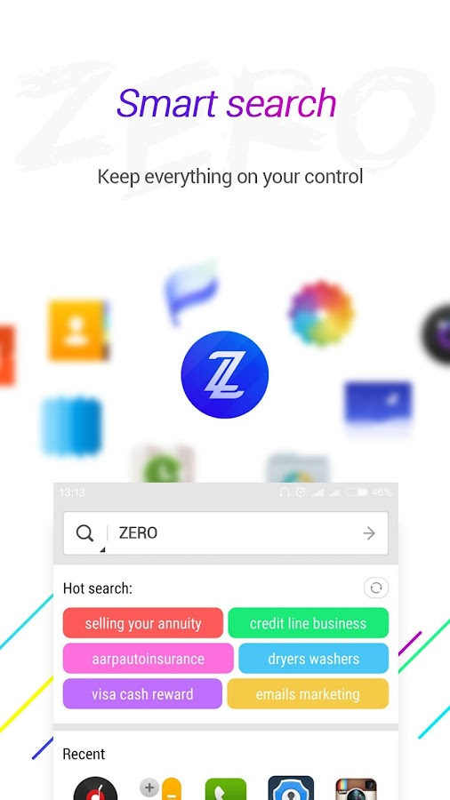 ZERO Launcher pro,smart,boost Screenshot 5