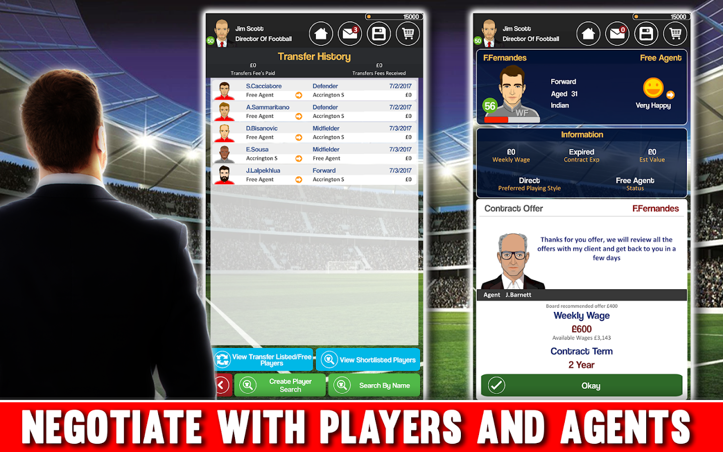 Club Soccer Director - Soccer Club Manager Sim Screenshot 1
