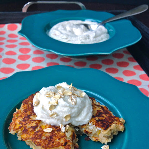 Oatmeal Griddle Cakes with Whipped Honey Ricotta