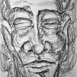 MToldi 16 graphite  by Marcello Toldi - Drawing All Drawing