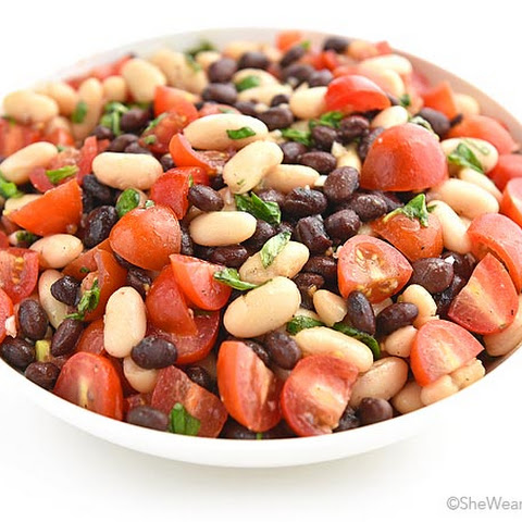White and Black Bean Salad